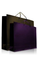 Nice colorful glaze paper shopping bag, Isolated