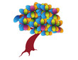 Abstract colorful tree illustration design