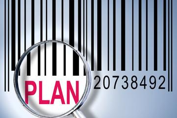 Plan on barcode