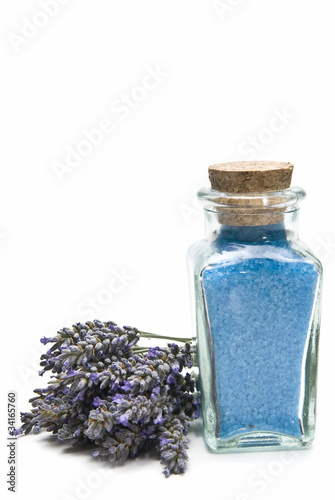 Bath salts with lavender.