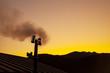田舎暮らしの煙突と煙