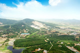 High-altitude aerial view of rural China poster