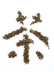 chinese tea leaves