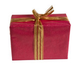 red gift box isolated with clipping path