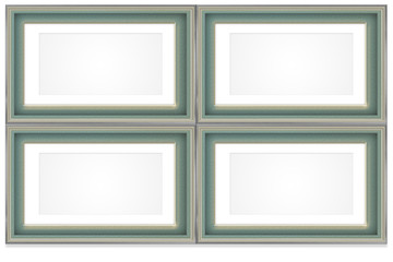 Frame design green and gold