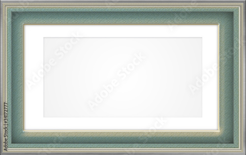 Frame design in green and gold