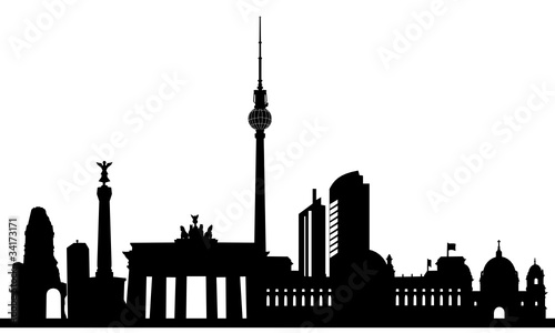 Fototapeten,skyline,berlin,silhouette,sehenswürdigkeit