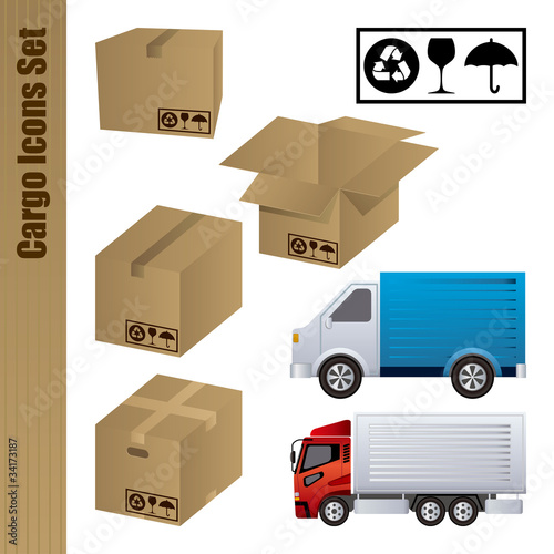 Cargo Icons Set