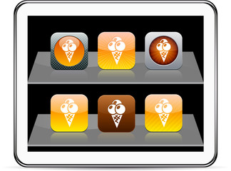 icecream orange app icons.