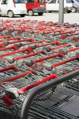 shopping carts at mall