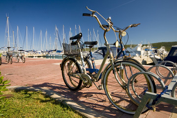Bicycles in the marina
