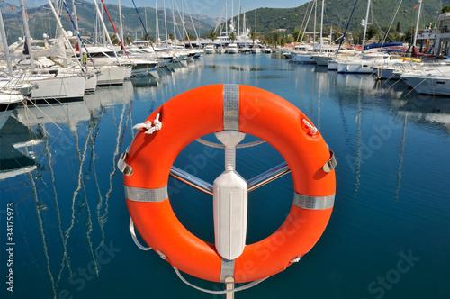 Safety buoy in marina