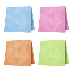 Note pad  recycled paper craft stick on white background