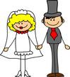 Постер, плакат: свадебная фотография жених и невеста в любви вектор