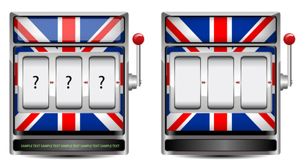 abstract UK slot machine isolated on white background
