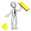 Geschäftsleute lieben den  Goldwert