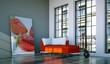 Wohndesign - rotes Sofa im Loft