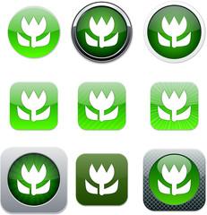 Macro green,  app icons.