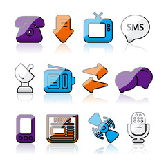 shiny communications icons