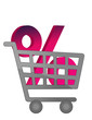 The great discount shopping cart illustration
