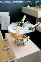 bath room with champagne
