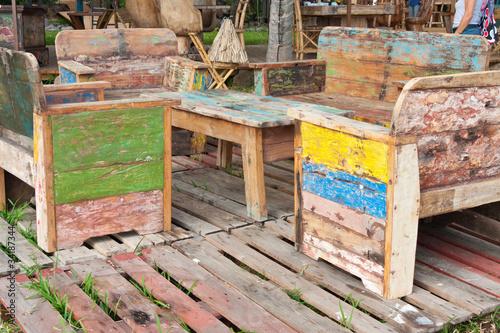 Salon de jardin bois r cup ration photo libre de droits - Salon de jardin en bois de recuperation ...