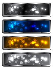 Modern metal sparkling festive backgrounds - frames