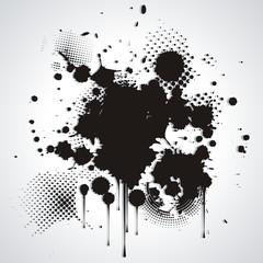 black blot isolated on white