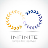 Logo infinite, with arrows # Vector poster