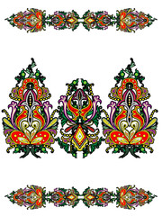 Elements of the Russian ornament