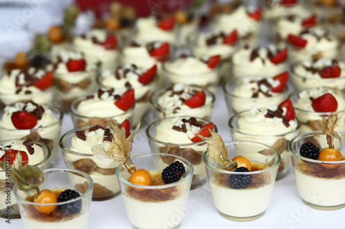 pudding, tiramisu at reception, sweet cake