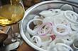 Cipolle bianche tagliate
