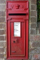 Victorian wall mounted post box.
