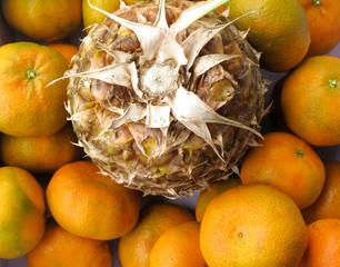 Fresh pineapple & tangerine