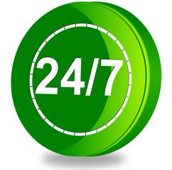 Bianco24/7 customer service glossy icon