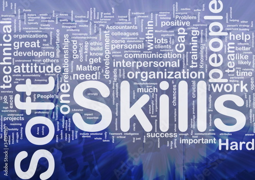Soft skills background concept