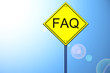 Faq on road sign