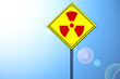 Nuclear shape on road sign