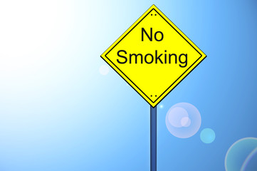 No smoking on road sign