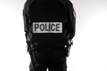 policier gilet fluo, police