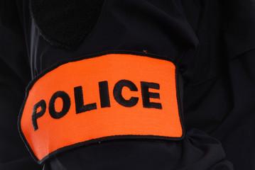 brassard police uniforme policeman