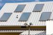 panneau chauffe-eau solaire sur toiture
