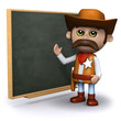 3d Sheriff wants you to study the blackboard