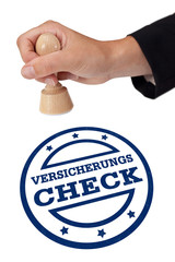 Stempel Versicherungs-Check