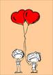 милые детские мультики с воздушными шарами в форме сердца