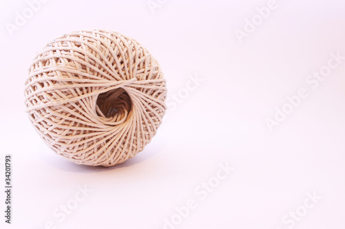 Isolated Ball Of String on white background