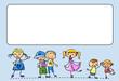 Постер, плакат: Счастливые дети танцевать петь прыгать бегать