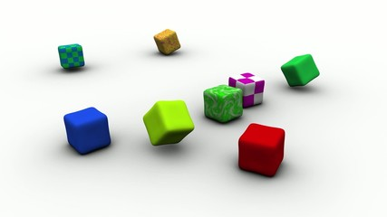 Cubetti morbidi colorati