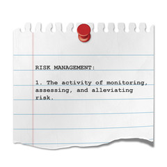 Recorte de papel texto RISK MANAGEMENT