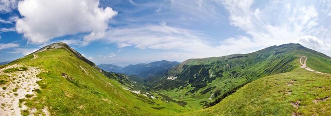 Panoramic view from mountain ridge-Low Tatras-Slovakia